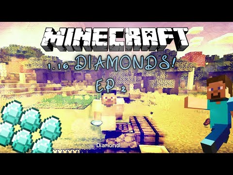 Minecraft 1.16 Survival! (EP 2) Diamonds!!