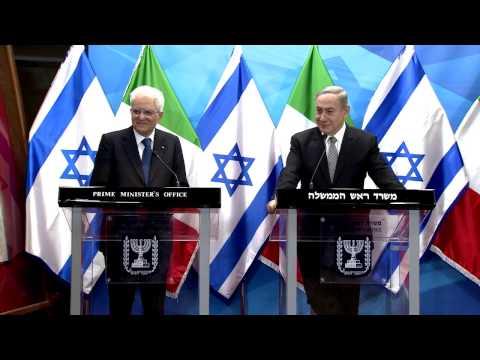 Prime Minister Netanyahu meets with Italian President Sergio Mattarella