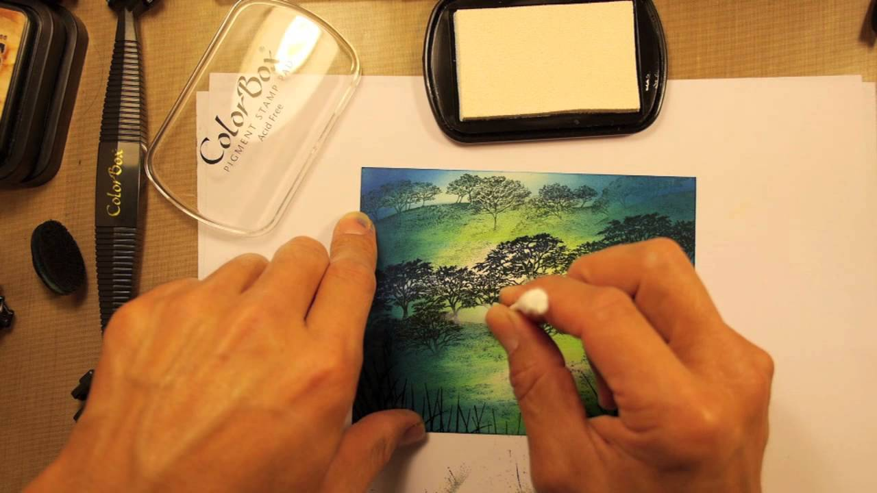 Stampscapes 101: Video 46.  Deer and the Oaks.