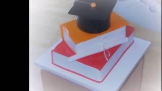 Graduation Books Cake