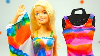 Барби игрушка Дизайнер платьев, раскрашиваем платья