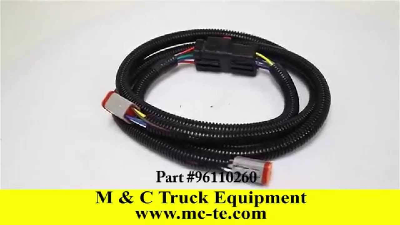 hight resolution of sno way plow light harness 96110260