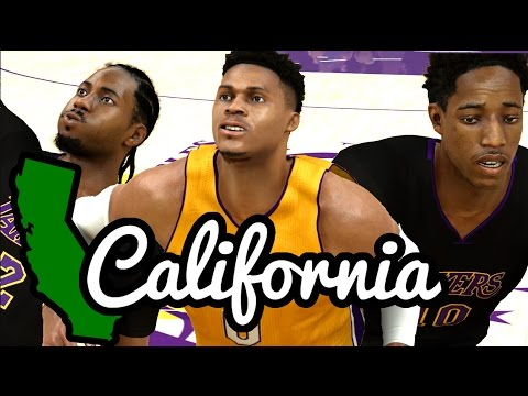 Can A Team Of All California Born Players Win A Championship? NBA 2K17 Challenge