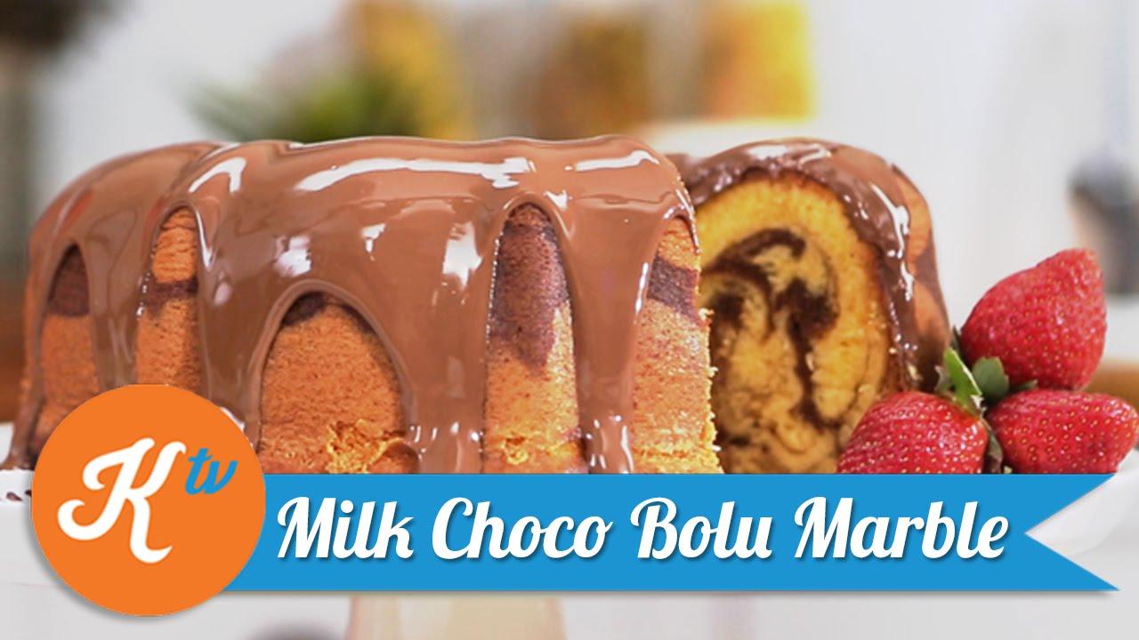 Milk Choco Marble Chiffon Cake Recipe