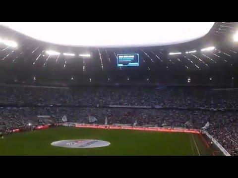 """Der 60er Marsch """"57 58 59 60"""" im Stadion bei 1860 vs. Kiel (Relegation)"""