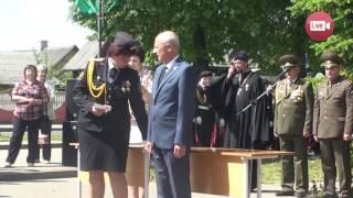 Кадеты СШ №9 г.Слонима  простились со знаменем (2017)