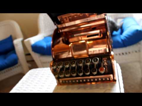 National Cash Register Model 313 With Top Sign - With Copper Oxidized Finish