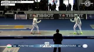 fe w s individual juniors plovdiv bul world championships 2017 semifinal 02 podium pusztai hun vs gk