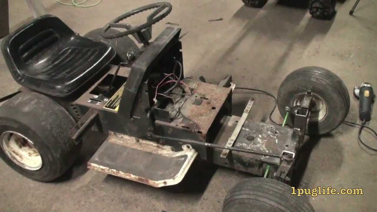 Racing Mower Front Axle : Lowering the ford racing tractor youtube