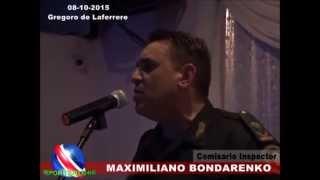Discurso de felicitaciones al comisario inspector Maximiliano Bondarenko