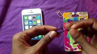 видео Как вставляется SIM карта в iPhone 6 и предыдущие модели