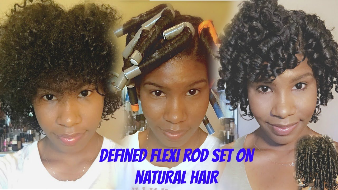 flexi rod styles for short hair defined flexi rod set on curly hair no heat 8189 | maxresdefault