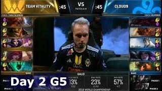 VIT vs C9 | Day 2 Group Stage S8 LoL Worlds 2018 | Vitality vs Cloud 9