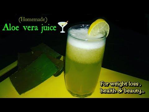 ALOE VERA JUICE FOR WEIGHT LOSS   Aloe Vera Ginger Lemon Juice Recipe  HOW TO MAKE ALOE VERA JUICE  