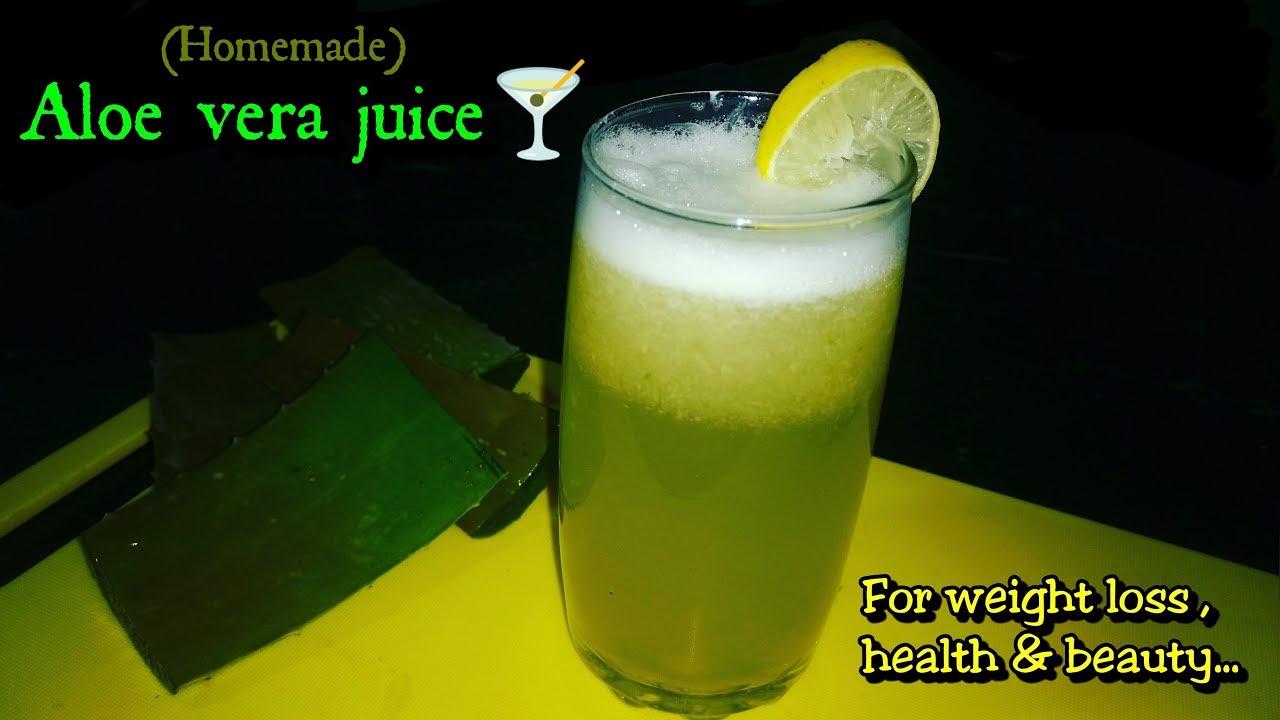 ALOE VERA JUICE FOR WEIGHT LOSS | Aloe Vera Ginger Lemon Juice Recipe |HOW TO MAKE ALOE VERA JUICE |