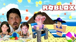ROBLOX NATURAL DISASTER SURVIVAL FUNNY MOMENTS! CHAIR GLITCH TO STAY ON THE MAP / GET THERE FIRST!