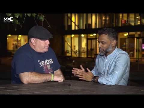 Moazzam Begg meets his former Guantanamo Bay guard