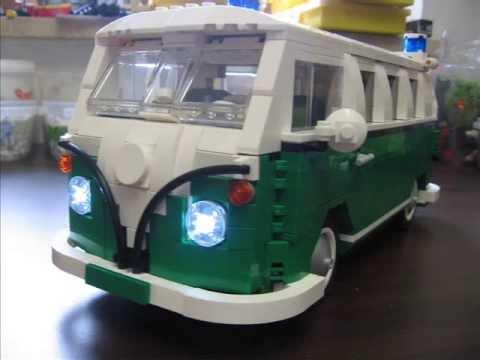 farb und modellvariationen vom lego camping bus 10220. Black Bedroom Furniture Sets. Home Design Ideas