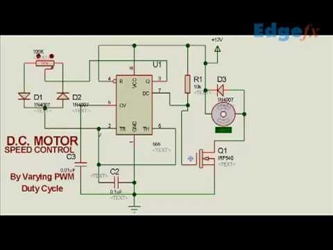 DC motor speed controller circuit using PWM Electrical Project