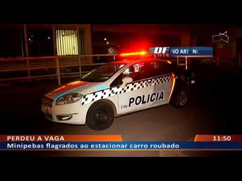 DF ALERTA - Minipebas flagrados ao estacionar carro roubado