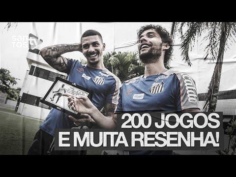 RESENHA NA ENTREGA DA PLACA DE 200 JOGOS DO ALISON