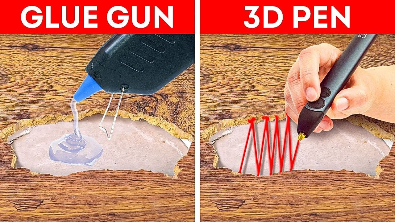 Glue Gun Vs. 3D Pen || How To Repair Everything
