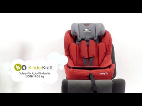 kinderkraft safety fix auto kindersitz isofix 9 36 kg de youtube. Black Bedroom Furniture Sets. Home Design Ideas