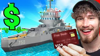 SPENDING $100,000 TO HAVE THE STRONGEST SHIP IN THE GAME (BUILD A BOAT TO TREASURE)