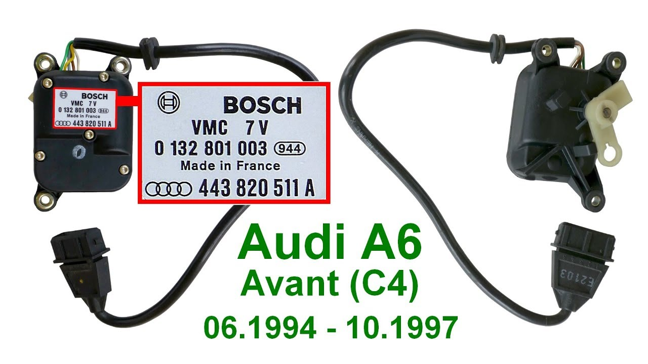 Download Audi A6 Avant C4 снять сервопривод V68. Klima-Stellmotor V68 ausbauen. Remove Positioning motor V68.