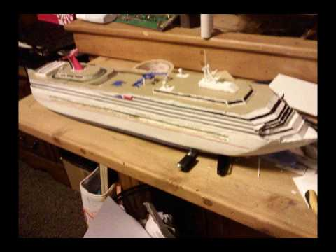 Making a model cruise ship (carnival conquest) - YouTube