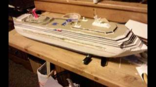 Making a model cruise ship (carnival conquest)