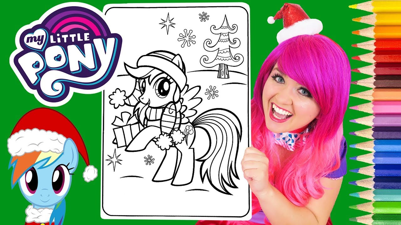 - Coloring My Little Pony Christmas Rainbow Dash Coloring Page