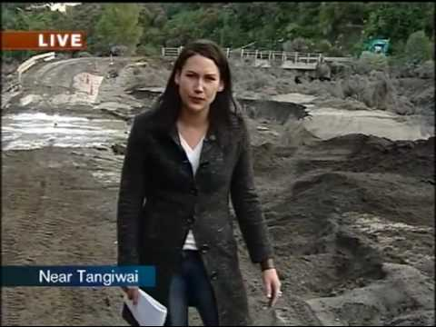 Aftermath: Lahar At Mt Ruapehu - 19 March 2007 - One News