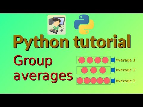 Python tutorial: Group averages thumbnail