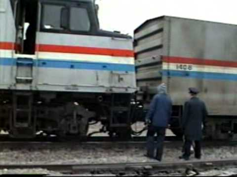 Amtrak BN SOO activity in Minot North Dakota 1992