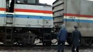 Amtrak BN SOO activity in Minot North Dakota 1992