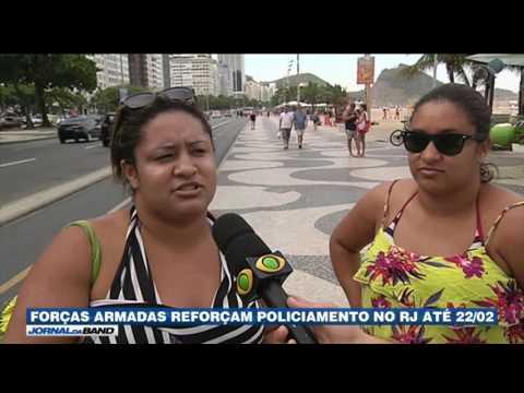 RJ: Forças Armadas atuarão nas ruas até o dia 22/02