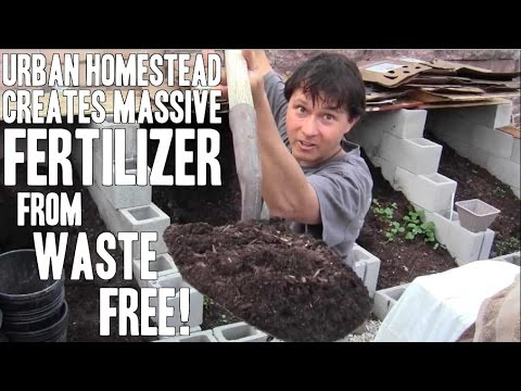 Self-Reliance Urban Homestead Creates Fertilizer from Waste FREE