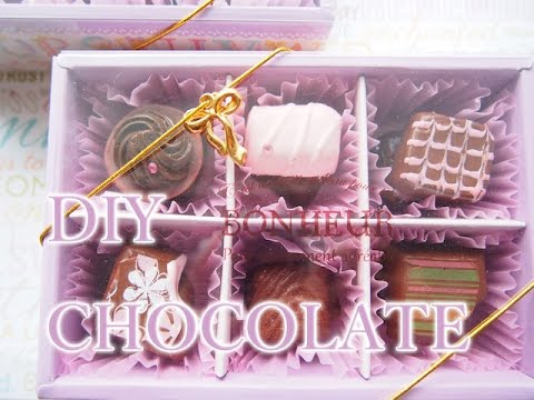 Fake Sweets Transfar sheet Chocolate 転写シートでフェイクチョコレート作り方