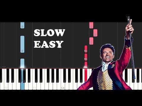 The Greatest Showman - Rewrite The Stars (SLOW EASY PIANO TUTORIAL)