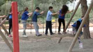 Unique Outdoor Playground Games Excited Kids  - Ramat Hanadiv Park