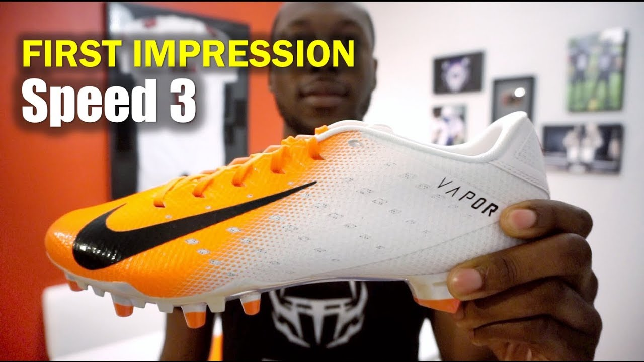 788e9bfb1da9 NIKE Vapor Untouchable 3 Speed Cleats: 1st Impression - YouTube