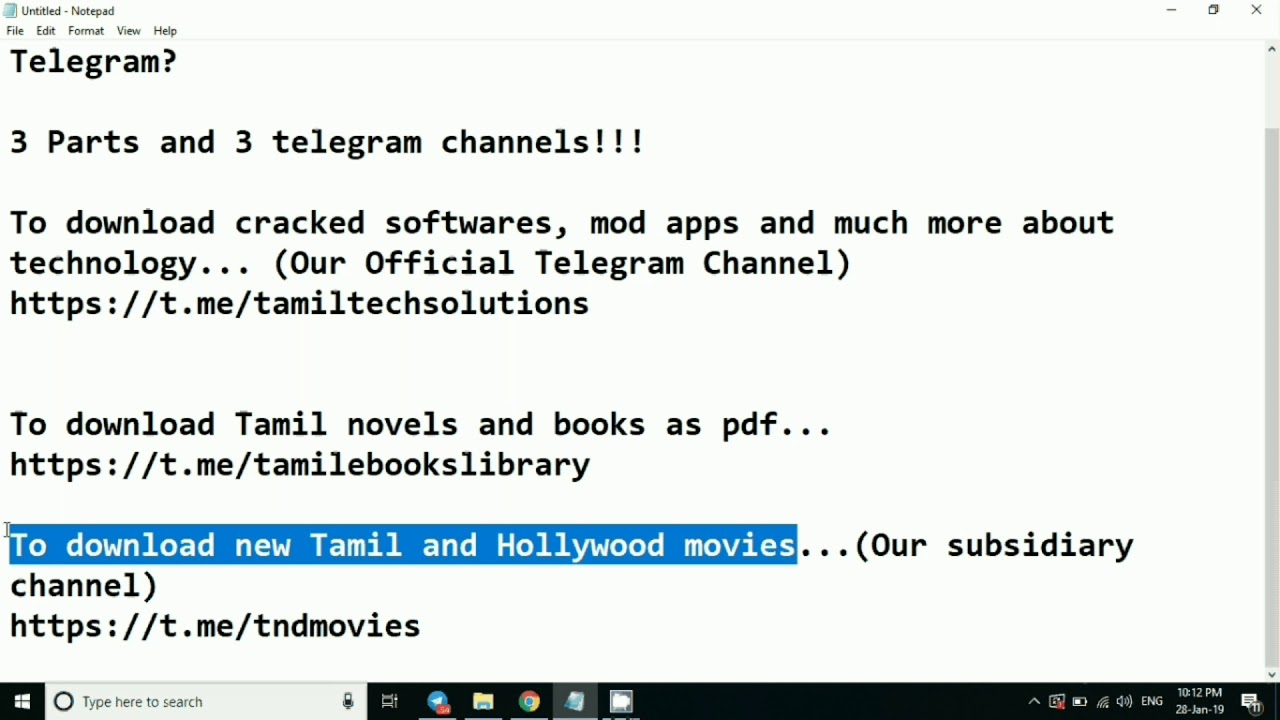 How To Download Software, Mod Apps, Tamil Ebooks, New Tamil and Hollywood  Movies on Telegram?