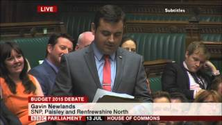 Gavin Newlands MP - Maiden Speech