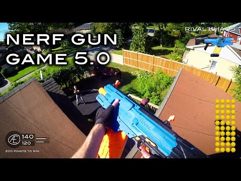 Nerf meets Call of Duty: Gun Game 5.0 | First Person in 4K! - Видео приколы ржачные до слез