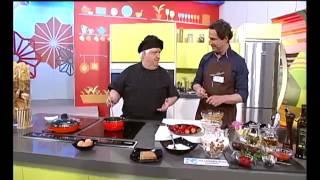 Miel sobre Hojuelas - Pincho de morcilla con verduras y huevo de codorniz
