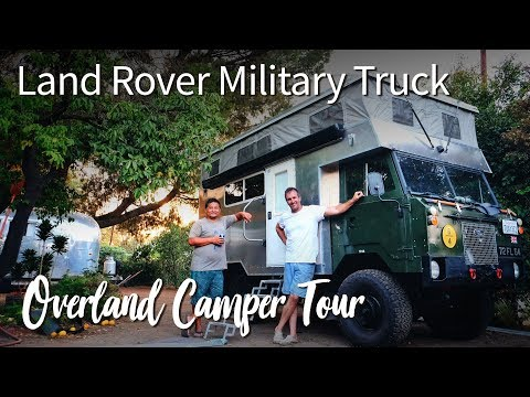 DIY Overland Camper Built on a Land Rover 101 Military Truck :: Full Tour