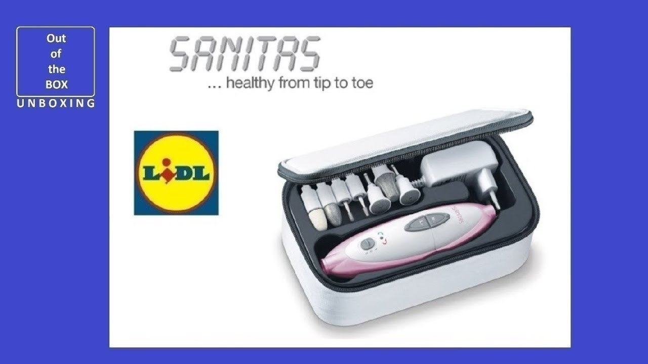 Sanitas Manicure Pedicure Set Sma 35 Unboxing Lidl 7 High Quality Sapphire And Felt Attachments Youtube