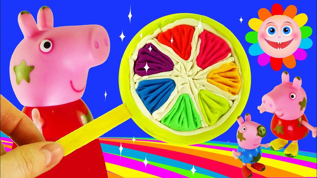 PLAY DOH Lollipop CREATE Lemon Lollipop Rainbow for Peppa pig