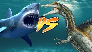 MEGALODON VS SPINOSAURUS [Who Would Win?]